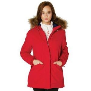 Helly Hansen Eira hooded coat in flag red- small